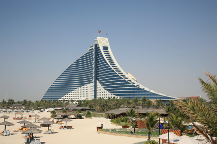 Beach Hotel Dubai with swimming pool